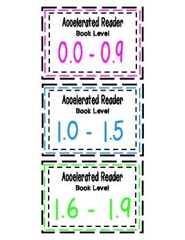 Accelerated Reader Book Basket Labels