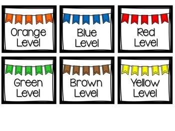 Accelerated Reader Book Bin Labels-Bunting Theme