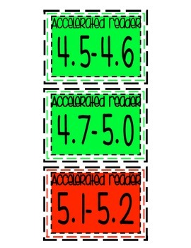 Accelerated Reader Book Bin Labels AND clip chart!