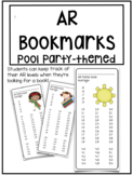Accelerated Reader Bookmarks ~ Pool Party/ Beach Theme