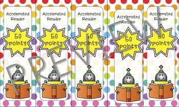 Accelerated Reader Bookmarks - Robots
