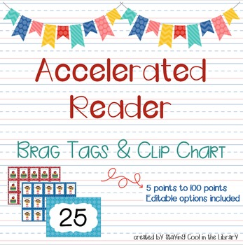 Accelerated Reader Brag Tags and Clip Chart