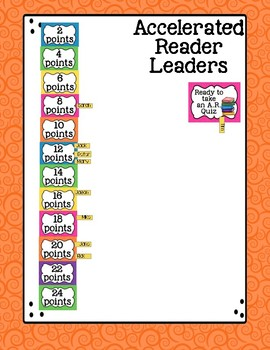 Accelerated Reader Point Tracker Accelerated Reader Goal Bulletin Board