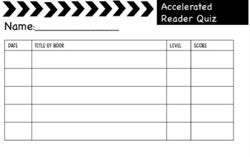 Accelerated Reader Bundle - Punch cards and log