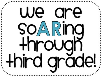 3rd Grade Accelerated Reader Classroom Sign