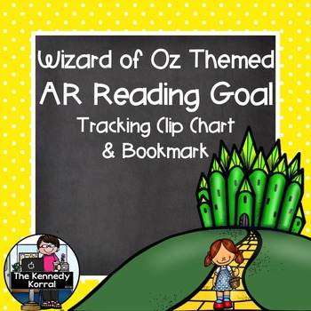 Accelerated Reader Clip Chart and Bookmark {Wizard of Oz Themed}