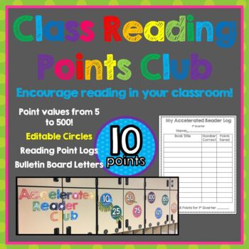 Accelerated Reader Bulletin Board  Tracking Chart and Reading Log