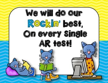 Accelerated Reader {Cool Cats} Clip Chart, Goal Setting, Reading Logs and More!