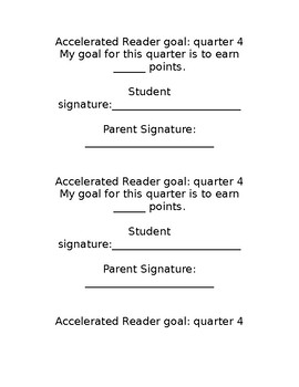 Accelerated Reader Goal