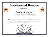 Accelerated Reader Goal Certificate - Editable