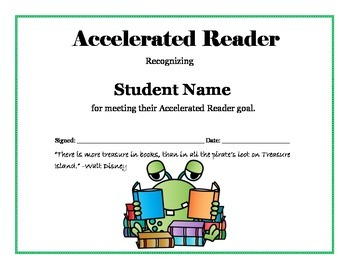 photograph regarding Free Printable Reading Certificates identify Accelerated Reader Purpose Certification - Editable