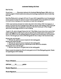 Accelerated Reader Goal Letter to Parents