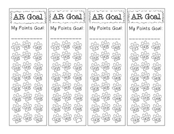 Accelerated Reader Goal Tracker for Students