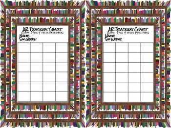 Accelerated Reader Individual Tracker Chart