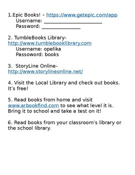Accelerated Reader Information