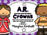 Accelerated Reader King and Queen Crown