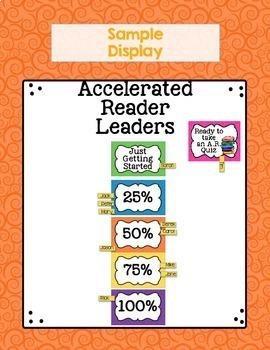 Accelerated Reader Bulletin Board Accelerated Reader Goals Log Percents