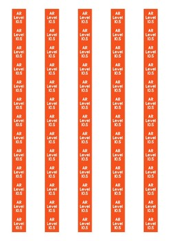 Accelerated Reader Level Spine Labels: Level 10.5 - Avery A4 L7651