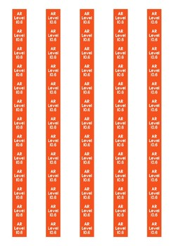Accelerated Reader Level Spine Labels: Level 10.6 - Avery A4 L7651