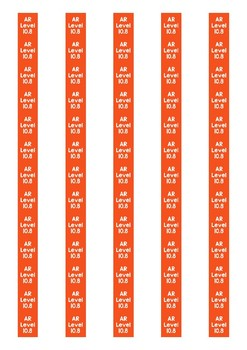 Accelerated Reader Level Spine Labels: Level 10.8 - Avery A4 L7651