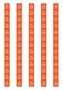 Accelerated Reader Level Spine Labels: Level 10.9 - Avery A4 L7651