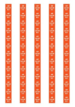 Accelerated Reader Level Spine Labels: Level 11.0 - Avery A4 L7651