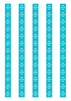 Accelerated Reader Level Spine Labels: Level 11.2 - Avery A4 L7651