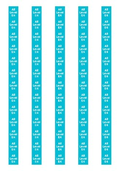 Accelerated Reader Level Spine Labels: Level 11.4 - Avery A4 L7651