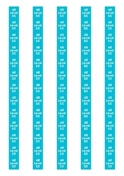 Accelerated Reader Level Spine Labels: Level 11.5 - Avery A4 L7651