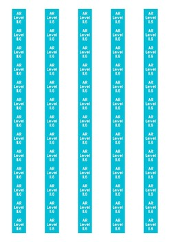 Accelerated Reader Level Spine Labels: Level 11.6 - Avery A4 L7651