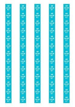 Accelerated Reader Level Spine Labels: Level 11.7 - Avery A4 L7651
