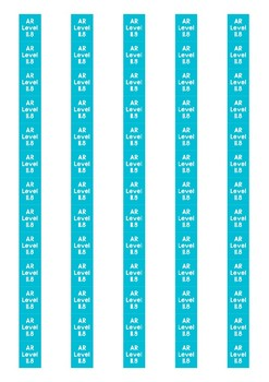 Accelerated Reader Level Spine Labels: Level 11.8 - Avery A4 L7651