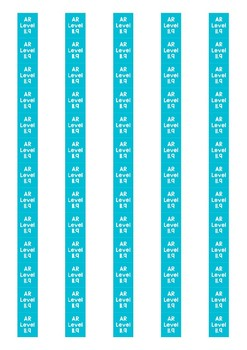 Accelerated Reader Level Spine Labels: Level 11.9 - Avery A4 L7651