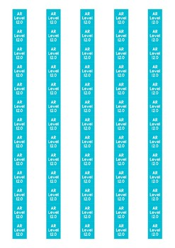 Accelerated Reader Level Spine Labels: Level 12.0 - Avery A4 L7651