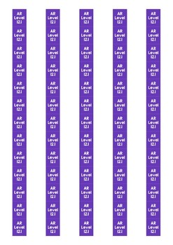 Accelerated Reader Level Spine Labels: Level 12.1 - Avery A4 L7651
