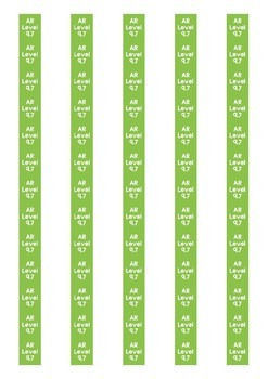 Accelerated Reader Level Spine Labels: Level 9.7 - Avery A4 L7651