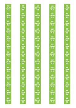 Accelerated Reader Level Spine Labels: Level 9.8 - Avery A4 L7651