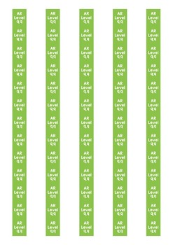 Accelerated Reader Level Spine Labels: Level 9.9 - Avery A4 L7651