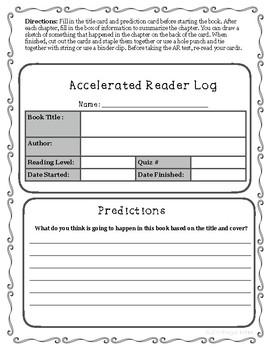 Accelerated Reader Log Flip Cards