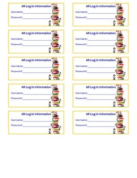 Accelerated Reader Login Tags