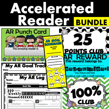 AR Goal Mega Pack, Bulletin, Accelerated Reader Logs, Punch cards and MORE!