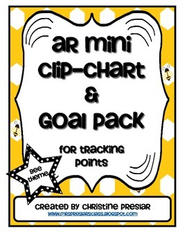 Accelerated Reader Mini Clip-Chart & Goal Pack - Points Tracker {Bees}