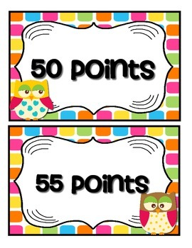 Accelerated Reader Mini Clip-Chart & Goal Pack - Points Tracker {Colorful Owls}