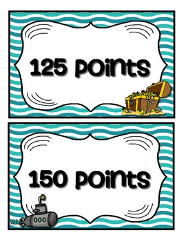 Accelerated Reader Mini Clip Chart & Goal Pack - Points Tracker {Ocean}