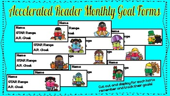 Accelerated Reader Monthly Goal Forms