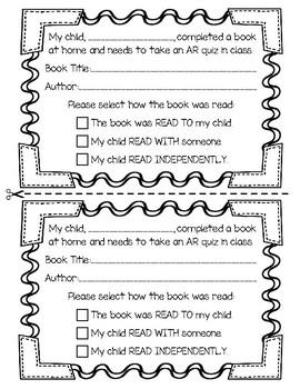 Accelerated Reader Parent Communication