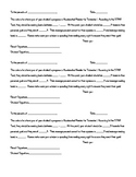 Accelerated Reader Parent Letters