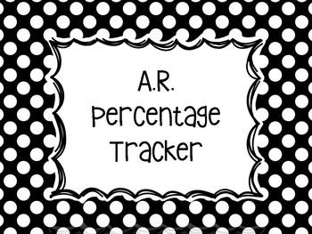Accelerated Reader Percentage Tracker Polka Dot