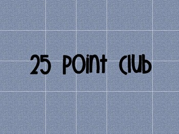 Accelerated Reader Point Club Poster