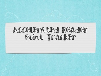 Accelerated Reader Point Tracker